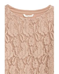 H&M Natural Lace Top