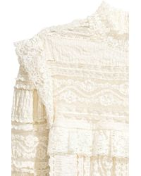 H&M White Frilled Lace Blouse