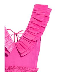 H&M Pink Pleated Tiered Dress