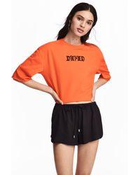 H&M Orange Cropped Top