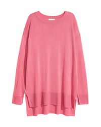 H&M Pink Fine-knit Jumper