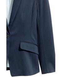 H&M Blue Single-button Jersey Jacket