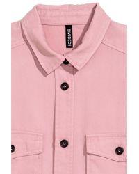 H&M Pink Lyocell Utility Shirt