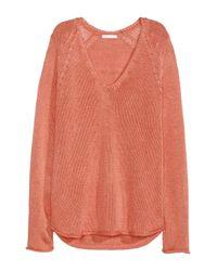 H&M Orange Knitted Jumper