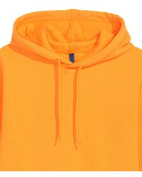 H&M Yellow Hooded Top for men