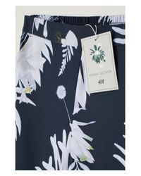 H&M - Blue Patterned Culottes - Lyst