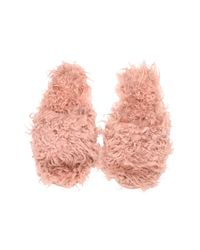 H&M Pink Faux Fur Slippers