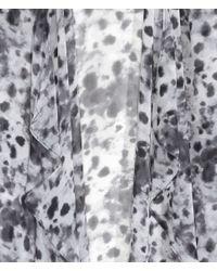H&M - Gray Chiffon Cardigan - Lyst