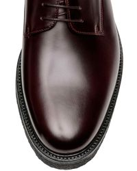 H&M Brown Leather Derby Shoes for men