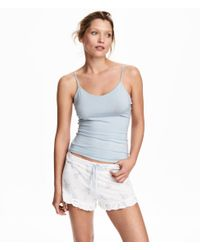 H&M Blue Pyjamas With A Top And Shorts
