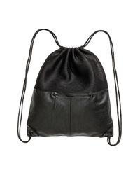 H&M Black Mesh Gym Bag for men