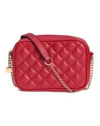 H&M Red Quilted Shouder Bag