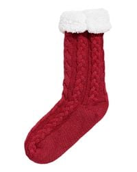 H&M - Red Pile-lined Thick Socks - Lyst