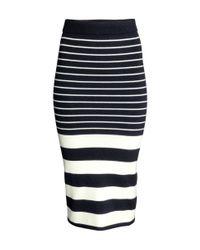 H&M Black Knitted Skirt