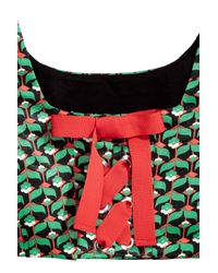 H&M Green Patterned Bustier