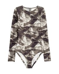 H&M | Brown Patterned Body | Lyst