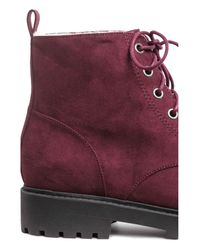 H&M Purple Pile-lined Boots