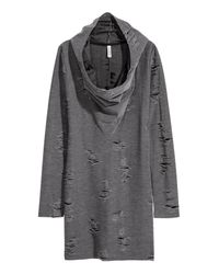H&M Gray Knitted Dress