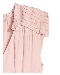 H&M Pink Crêpe Satin Dress