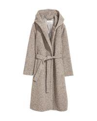 H&M - Natural Wool-blend Coat - Lyst
