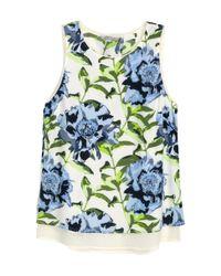H&M | Multicolor Sleeveless Chiffon Blouse | Lyst