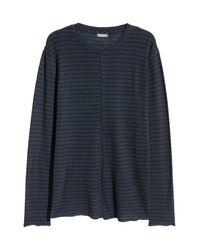 H&M Blue Long-sleeved Shirt for men