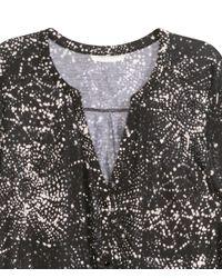 H&M - Black Jersey Tunic - Lyst