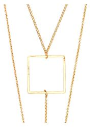 H&M Metallic Multistrand Necklace