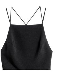 H&M - Black Sleeveless Strappy Dress - Lyst