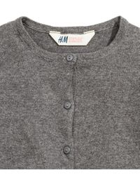 H&M - Gray Cotton Cardigan - Lyst