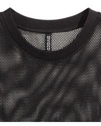 H&M Black Mesh T-shirt