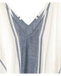 H&M - Blue Cotton Poncho - Lyst