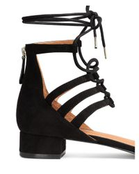 H&M - Black Low Court Shoes With Lacing - Lyst
