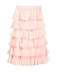 H&M Pink Tiered Skirt