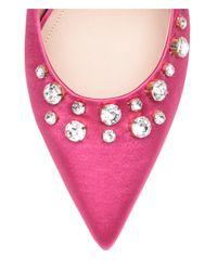 H&M Pink Satin Pumps With Rhinestones