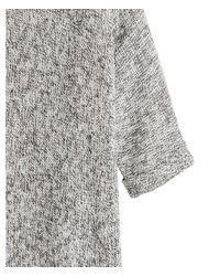 H&M Gray Purl-knit Jumper