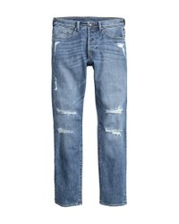 H&M | Blue Super Skinny Jeans for Men | Lyst