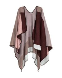 H&M - Multicolor Block-patterned Poncho - Lyst