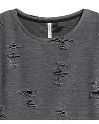 H&M Gray Trashed Top