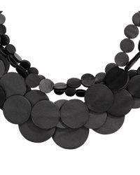 H&M | Black Multistrand Necklace | Lyst