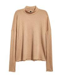 H&M | Natural Rib-knit Jumper | Lyst