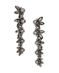 H&M | Metallic Long Earrings With Beads | Lyst