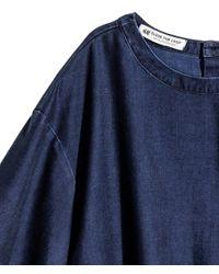 H&M - Blue Short Lyocell-blend Denim Top - Lyst