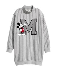H&M - Gray Oversized Sweatshirt - Lyst