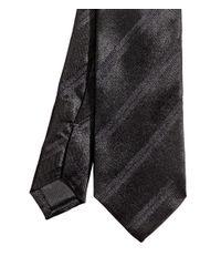 H&M | Black Striped Silk Tie for Men | Lyst