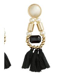 H&M - Black Earrings With Tassels - Lyst