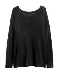 H&M | Black Boat-neck Jumper | Lyst