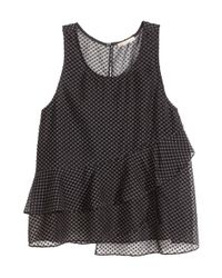 H&M Black Sleeveless Chiffon Blouse