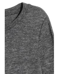 H&M Gray Long-sleeved Jersey Top