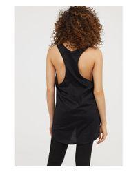 H&M - Black Printed Vest Top - Lyst